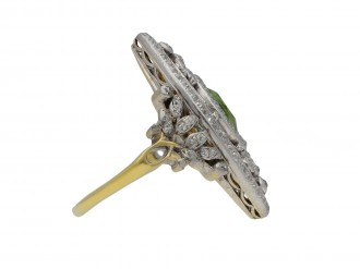 Demantoid garnet diamond dress ring berganza hatton garden