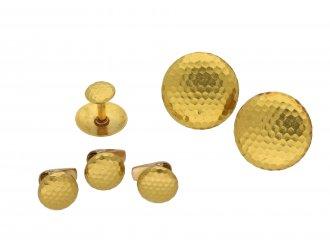 Antique textured gold dress set berganza hatton garden