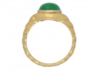 Antique solitaire jade locket ring berganza hatton garden