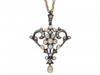 Gass & Co. pearl diamond pendant/brooch berganza hatton garden