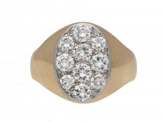 Diamond signet ring berganza hatton garden