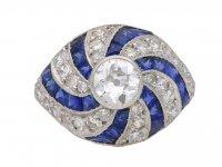 Sapphire and diamond  ring berganza hatton garden