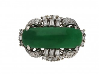 Jade and diamond ring berganza hatton garden