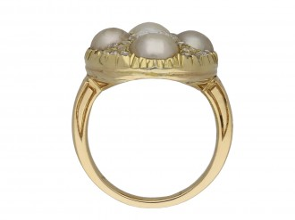 Victorian pearl and diamond cluster ring berganza hatton garden
