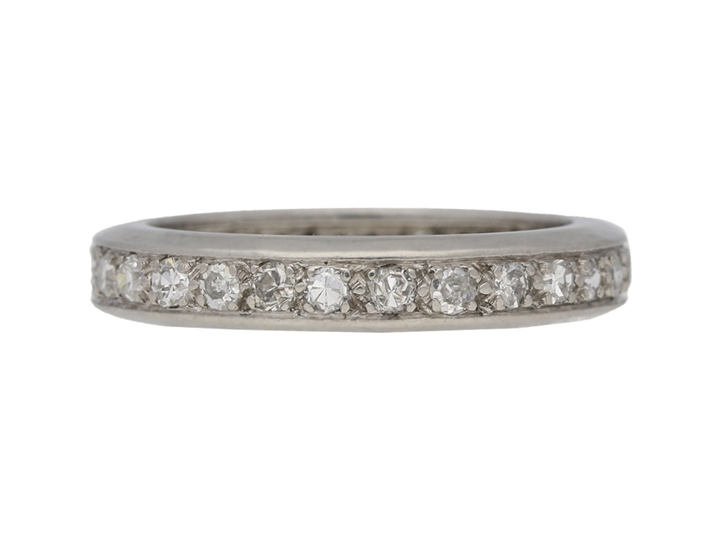 Vintage eternity diamond ring berganza hatton garden