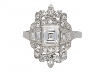 Vintage diamond cluster ring berganza hatton garden