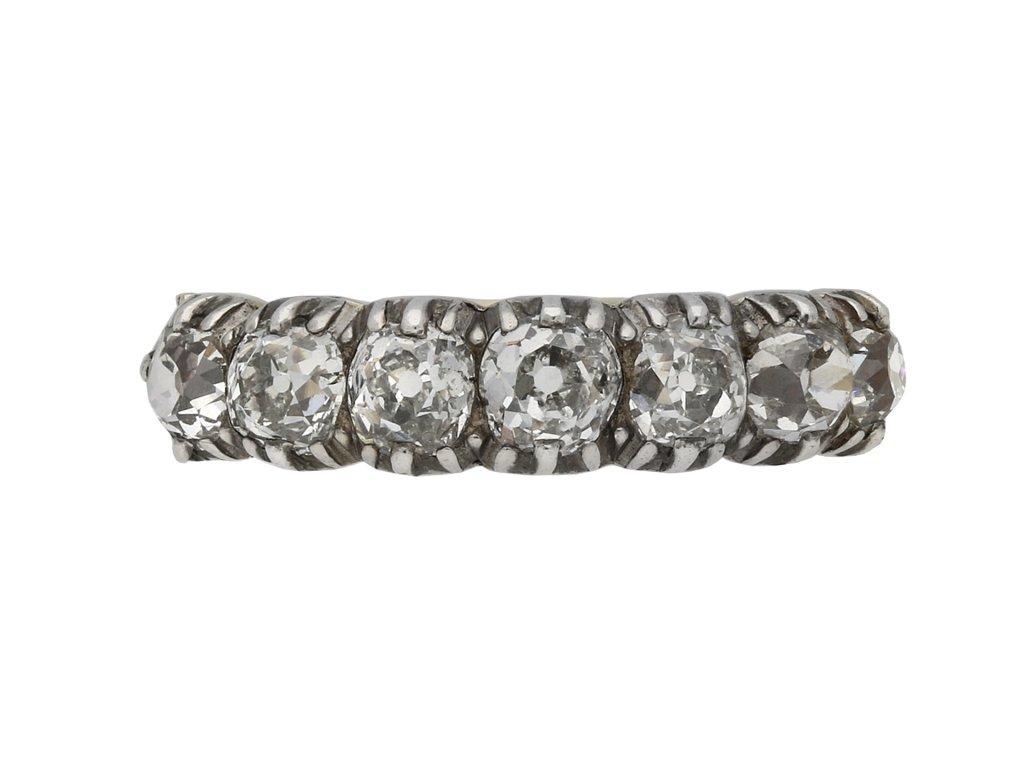 Victorian diamond seven stone ring berganza hatton garden