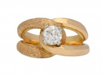 Old cut solitaire diamond cocktail ring berganza hatton garden
