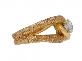 Old cut solitaire diamond cocktail ring berganza hatton garden
