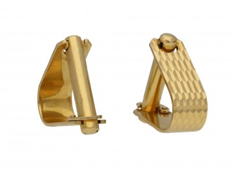 18 carat yellow gold cufflinks berganza hatton garden