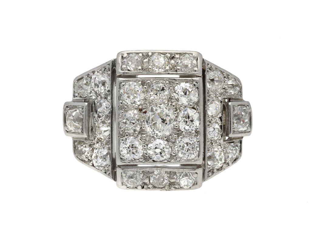 Art Deco diamond cluster ring hatton garden
