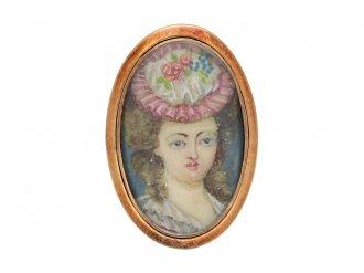 Early portrait miniature memorial ring berganza hatton garden
