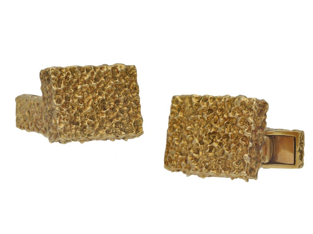 Mauboussin Paris 18 carat gold cufflinks berganza hatton garden