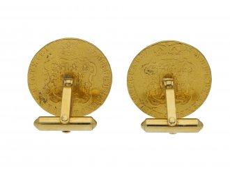 Gold George III guinea cufflinks berganza hatton garden