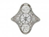 Belle Époque three stone diamond ring berganza hatton garden
