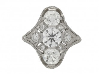 Belle Époque three stone diamond ring berganza hatton garden