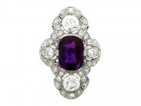 Dreicer & Co diamond and amethyst ring berganza hatton garden