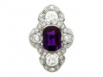 Dreicer & Co diamond and amethyst ring berganza hatton garden