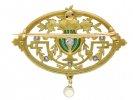 Art Nouveau diamond pendant/brooch Gautrait berganza hatton garden