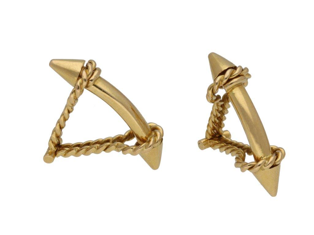 18 carat yellow gold cufflinks berganza hatton garden