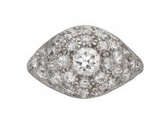 Diamond cluster ring, French berganza hatton garden