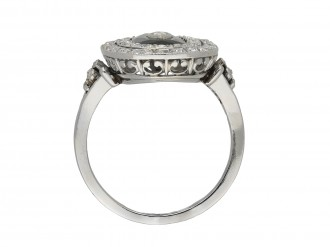 Sapphire and diamond cluster ring berganza hatton garden