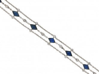 Sapphire and diamond bracelet berganza hatton garden