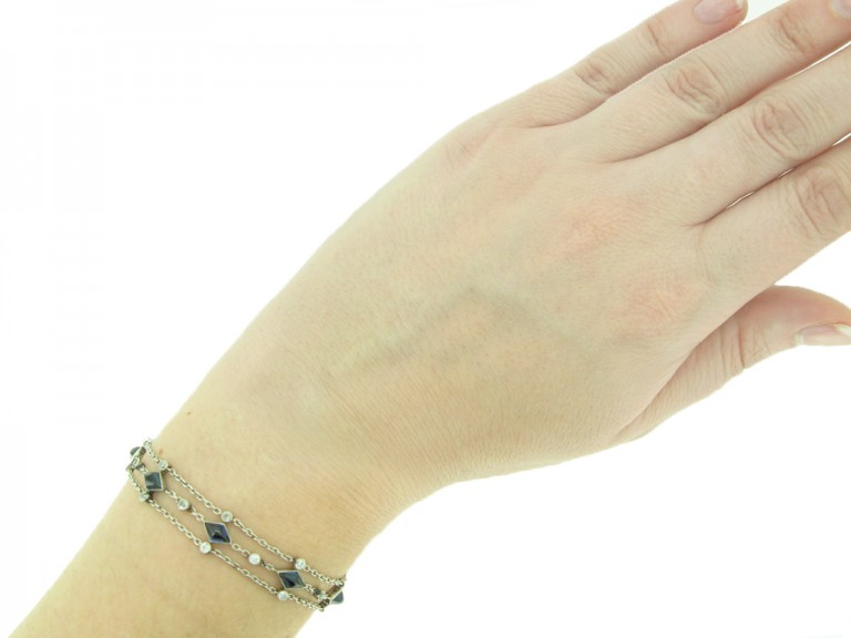 Sapphire and diamond bracelet berganza hatton garden