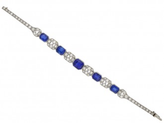 Art Deco sapphire and diamond bracelet berganza hatton garden