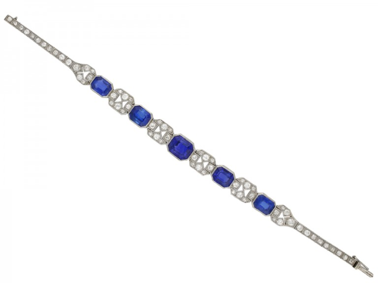 Art Deco sapphire and diamond bracelet berganza hatton garden