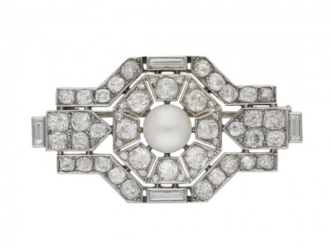 Boucheron Paris pearl and diamond brooch berganza hatton garden