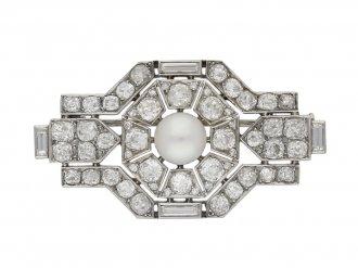 Boucheron Paris pearl and diamond brooch berganza hatton garden