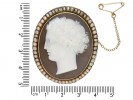Antique cameo and pearl pendant/brooch berganza hatton garden