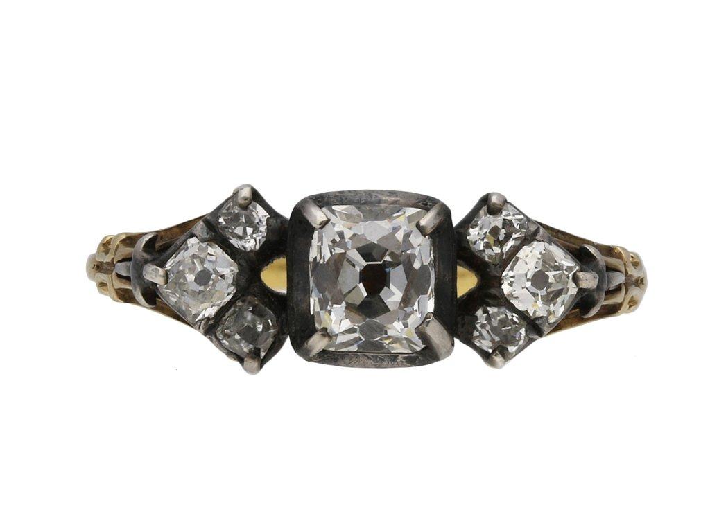 Georgian old mine diamond ring berganza hatton garden