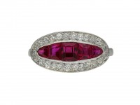 Burmese ruby and diamond saddle ring berganza hatton garden
