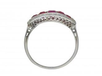 Burmese ruby and diamond saddle ring berganza hatton garden