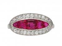 Ruby and diamond saddle ring berganza hatton garden