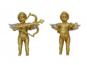 Pair of diamond set cherub cufflinks, berganza hatton garden