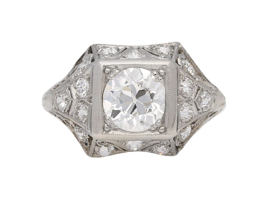 art deco engagement diamond ring hatton garden berganza