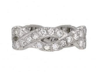 Diamond set twisted eternity ring berganza hatton garden