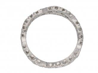 Diamond set twisted eternity ring berganza hatton garden
