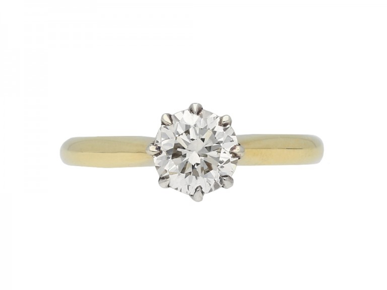 Solitaire diamond ring berganza hatton garden
