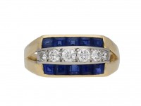 Vintage Tiffany & Co sapphire diamond ring berganza hatton garden