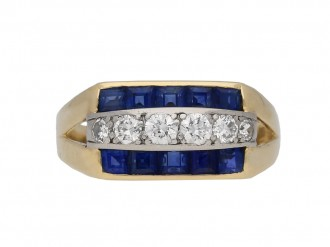 Vintage Tiffany & Co sapphire diamond ring berganza hatton garden