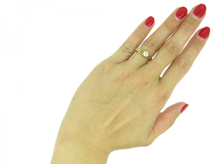 Vintage solitaire diamond ring berganza hatton garden