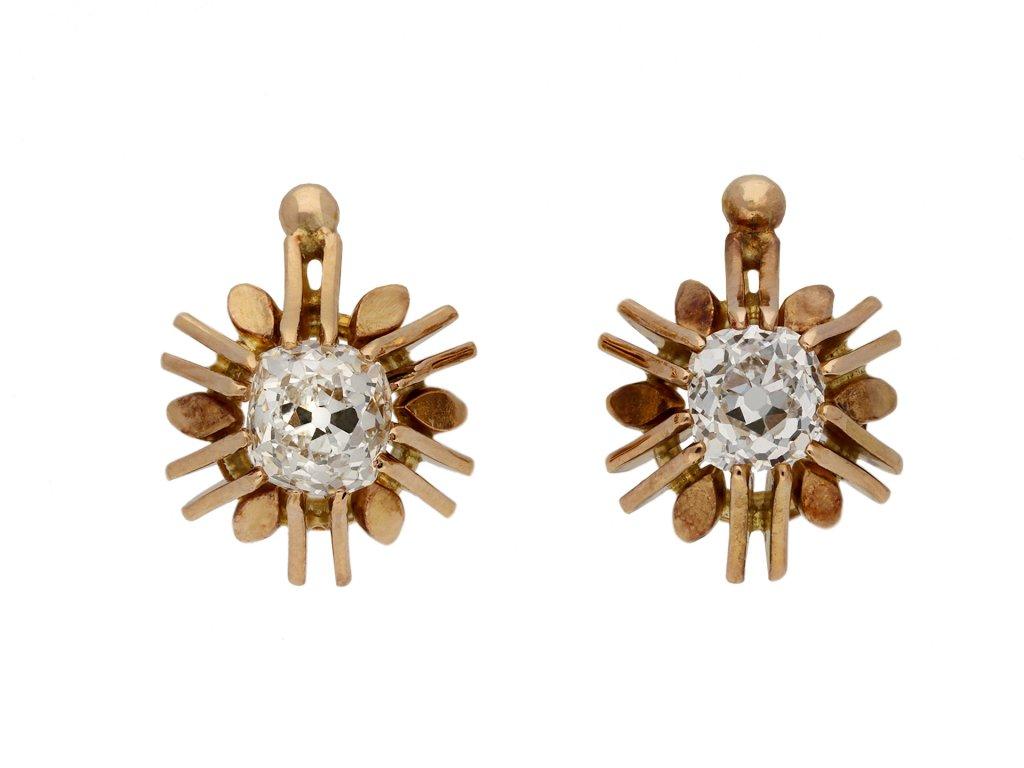 Antique diamond earrings berganza hatton garden