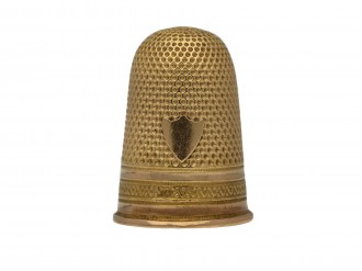 Antique gold thimble, French berganza hatton garden