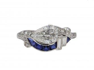 Art Deco diamond and sapphire ring hatton garden