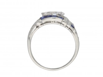 Art Deco diamond and sapphire ring hatton garden
