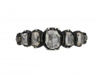 Georgian seven stone diamond ring berganza hatton garden